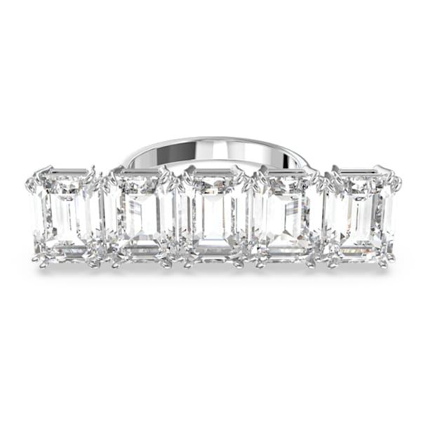 Millenia cocktail ring, White, Rhodium plated - Swarovski, 5609008