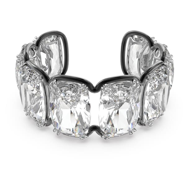 Harmonia cuff, Oversized floating crystal, White, Mixed metal finish - Swarovski, 5609662