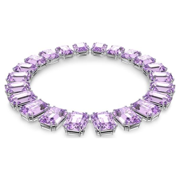 Millenia necklace, Octagon cut crystals, Purple, Rhodium plated - Swarovski, 5609701