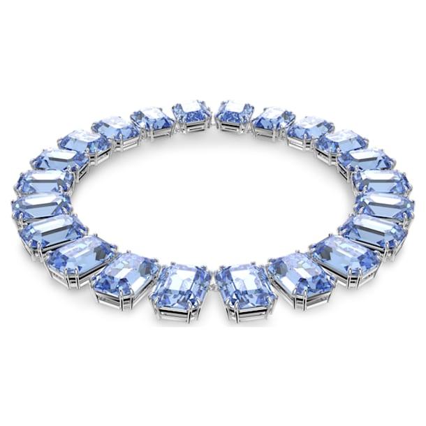Collana Millenia, Cristalli taglio ottagonale, Blu, Placcato rodio - Swarovski, 5609703
