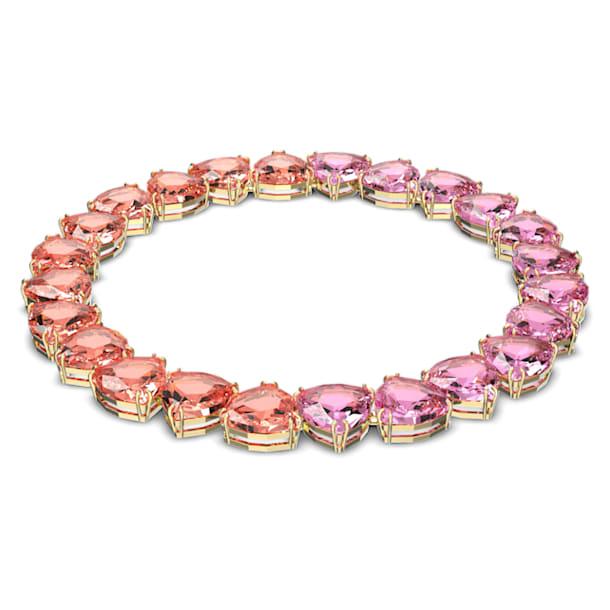 Millenia 项链, 三角形切割, 流光溢彩, 镀金色调 - Swarovski, 5609709