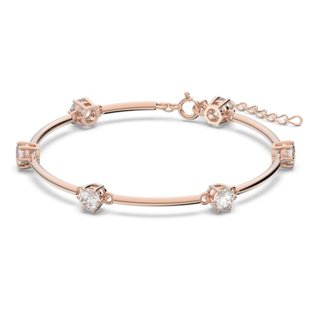 Constella bangle, White, Rose-gold tone plated - Swarovski, 5609711
