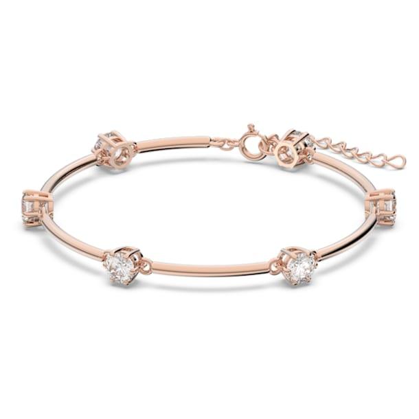 Constella bracelet, White, Rose gold-tone plated - Swarovski, 5609711