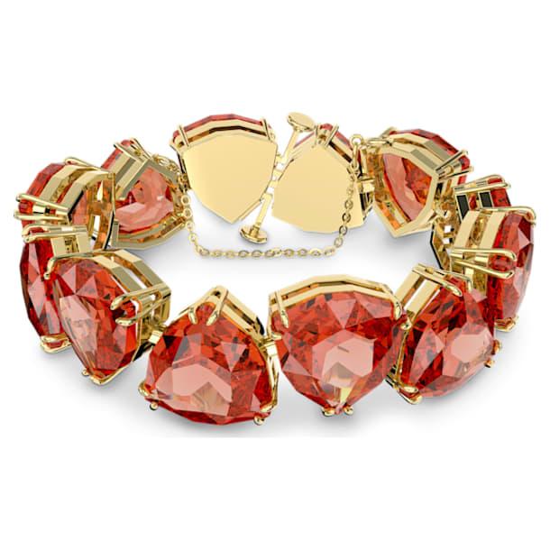 Millenia bracelet, Trilliant cut crystal, Orange, Gold-tone plated - Swarovski, 5609713