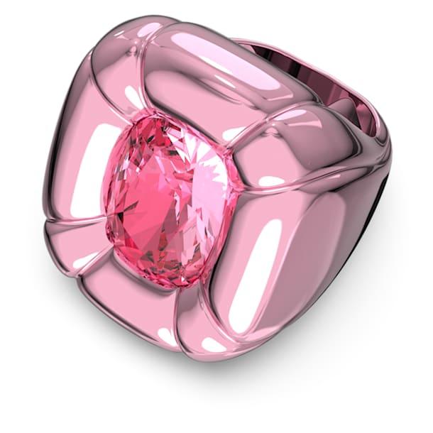 Anillo de cóctel Dulcis, Cristales de talla cushion, Rosa - Swarovski, 5609721