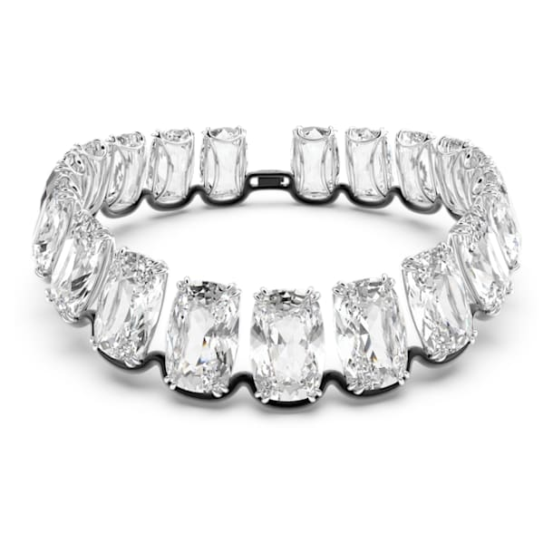 Harmonia Choker, Oversized floating crystal, White, Mixed metal finish - Swarovski, 5609890