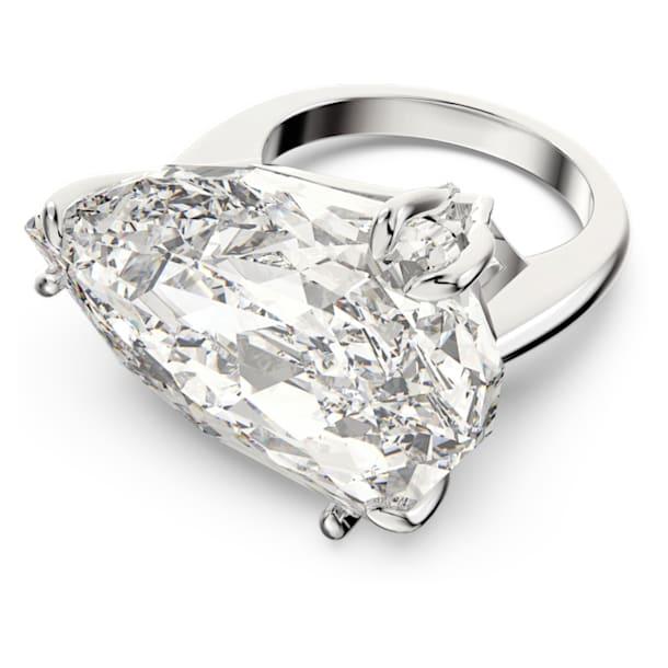 Mesmera koktélgyűrű, Triliáns metszésű kristály, Fehér, Ródium bevonattal - Swarovski, 5610376