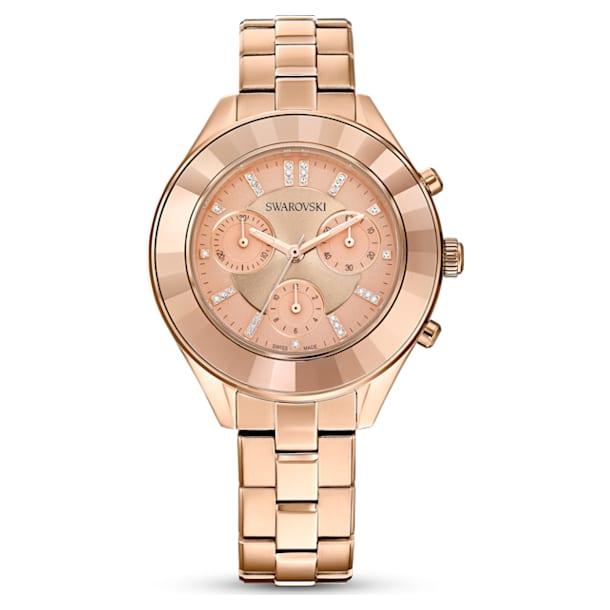 Octea Lux Sport watch, Metal bracelet, Rose gold tone, Rose-gold tone PVD - Swarovski, 5610469