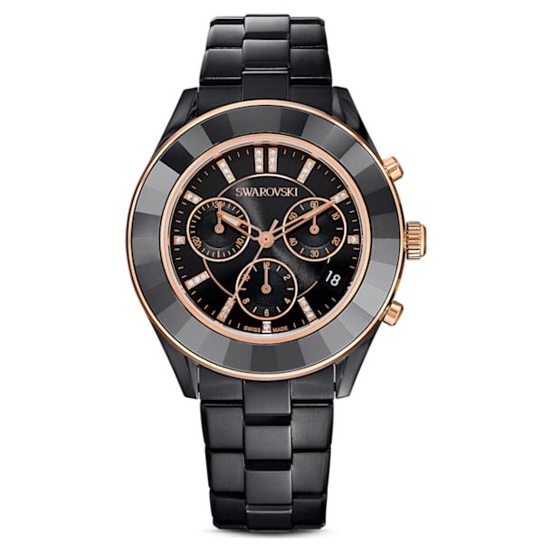 Octea Lux Sport watch, Metal bracelet, Black PVD - Swarovski, 5610472