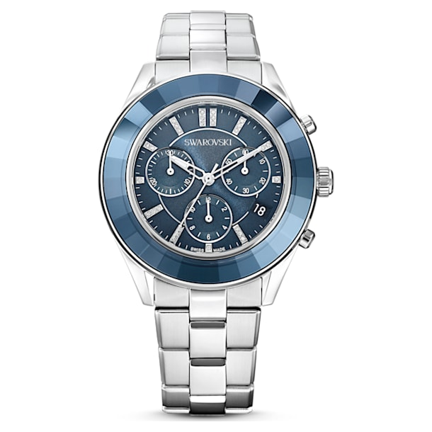 Octea Lux Sport óra, Fém karkötő, Kék, Rozsdamentes acél - Swarovski, 5610481