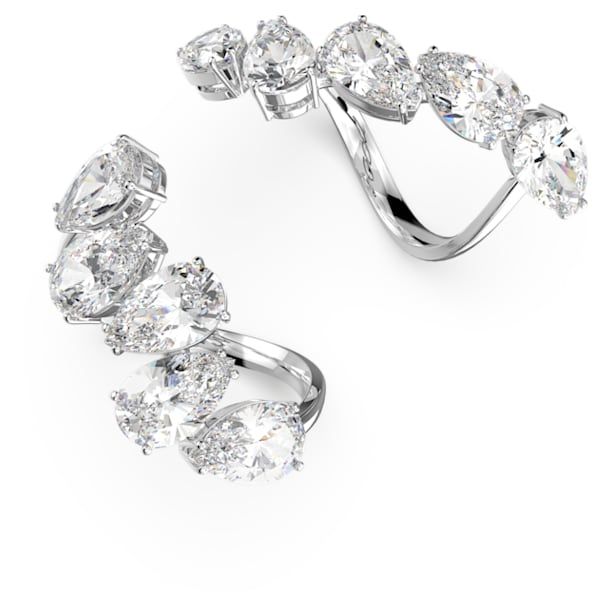 Millenia ring, Set (2), White, Rhodium plated - Swarovski, 5610737