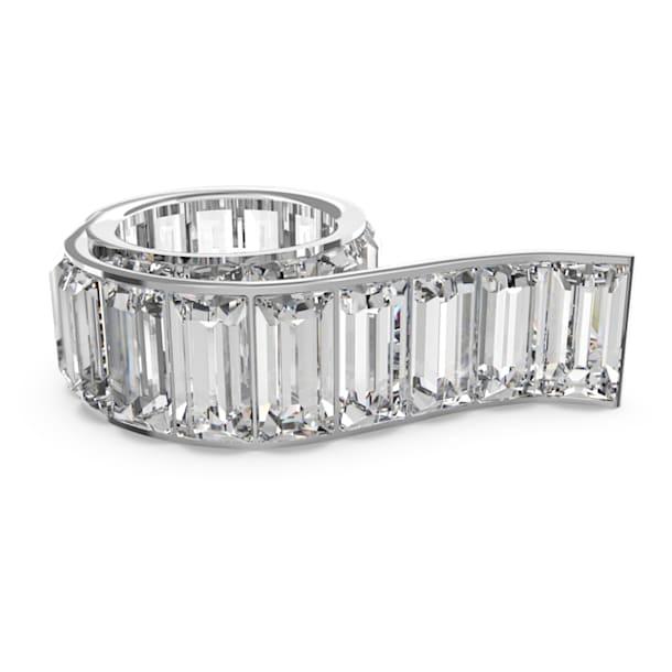 Matrix Кольцо, Белый кристалл, Родиевое покрытие - Swarovski, 5610739