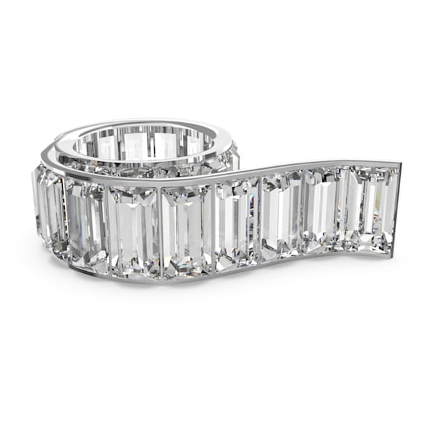 Matrix ring, White, Rhodium plated - Swarovski, 5610739