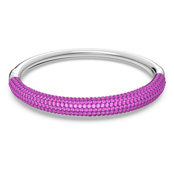 Tigris Жёсткий браслет, Розовый кристалл, Родиевое покрытие - Swarovski, 5610943