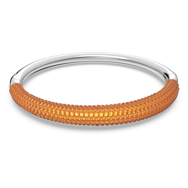 Tigris bangle, Orange, Rhodium plated - Swarovski, 5610947