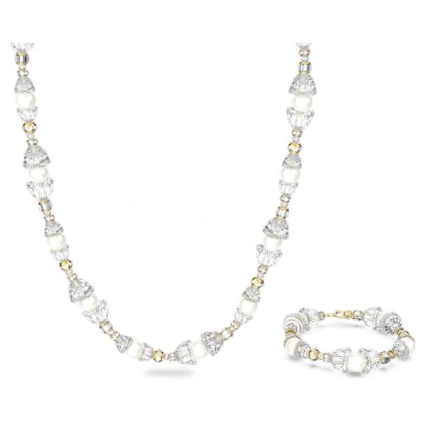 Conjunto Somnia, Branco, Lacado a dourado - Swarovski, 5610981