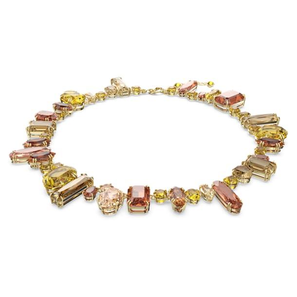 Gema necklace, Multicolored, Gold-tone plated - Swarovski, 5610988