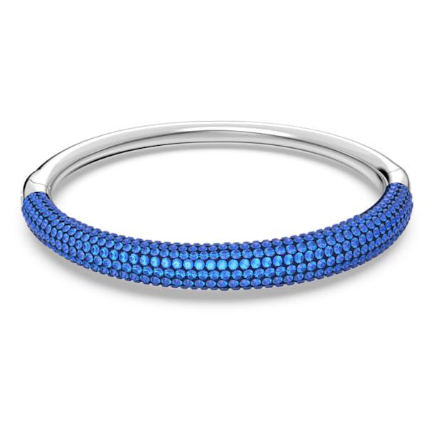 Bracciale rigido Tigris, Blu, Placcato rodio - Swarovski, 5611172