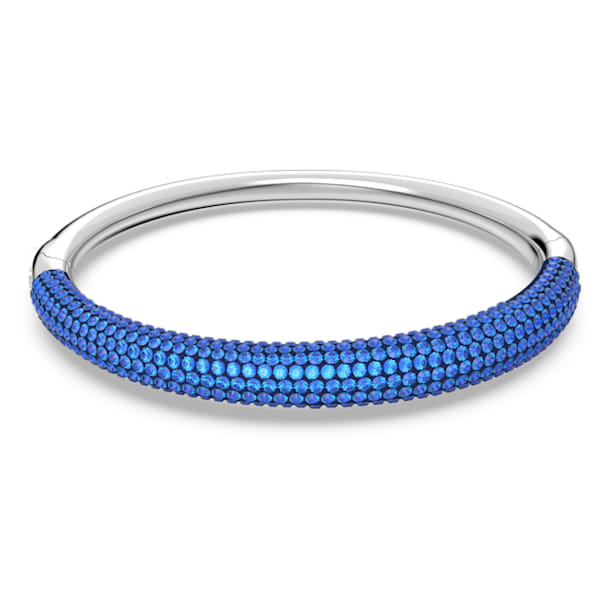 Tigris bangle, Blue, Rhodium plated - Swarovski, 5611172