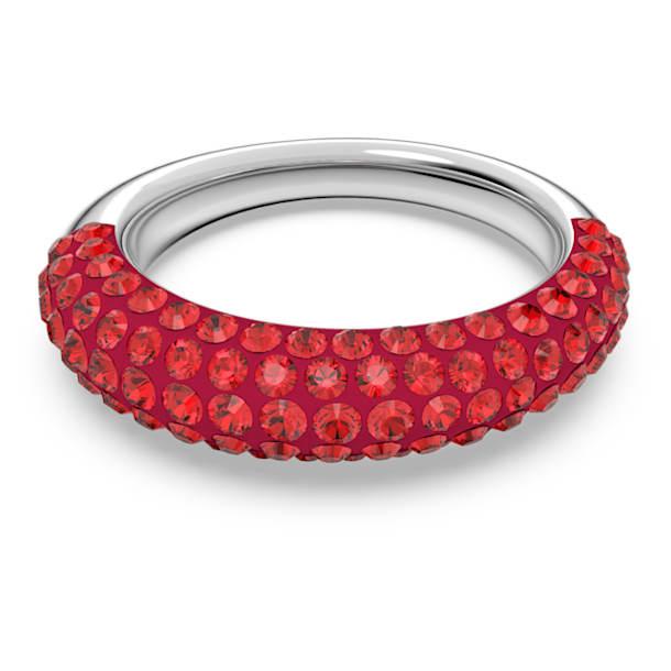 Δαχτυλίδι Tigris, Κόκκινο, Επιμετάλλωση ροδίου - Swarovski, 5611177