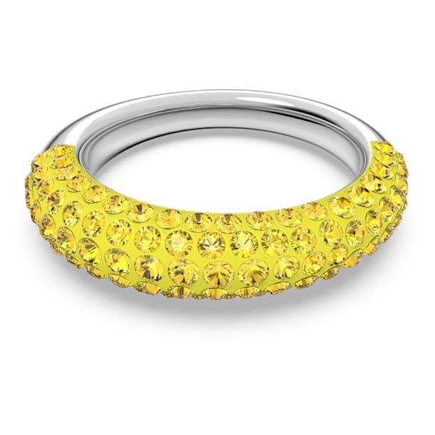 Tigris gyűrű, Sárga, Ródium bevonattal - Swarovski, 5611179