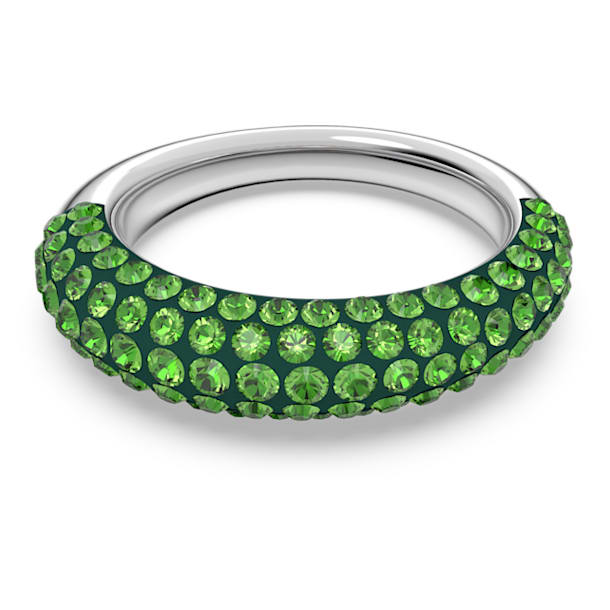Tigris ring, Green, Rhodium plated - Swarovski, 5611181