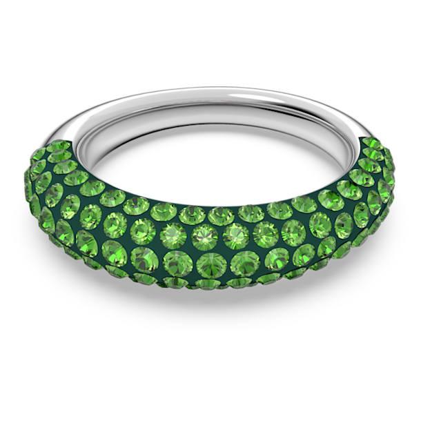 Tigris gyűrű, Zöld, Ródium bevonattal - Swarovski, 5611181