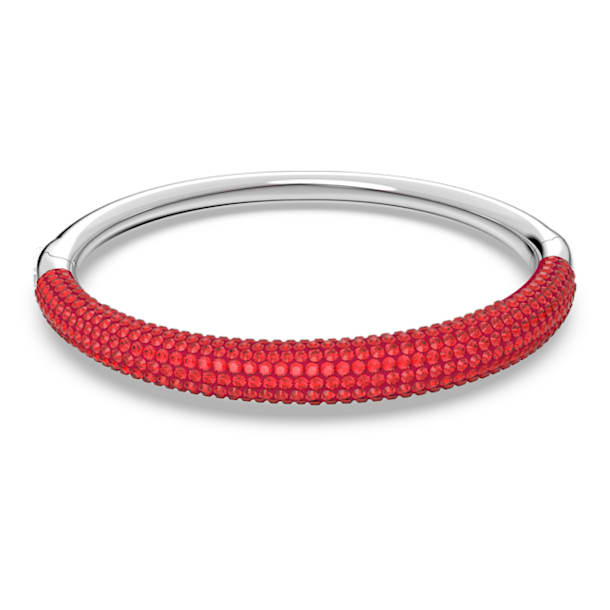 Tigris bangle, Red, Rhodium plated - Swarovski, 5611185