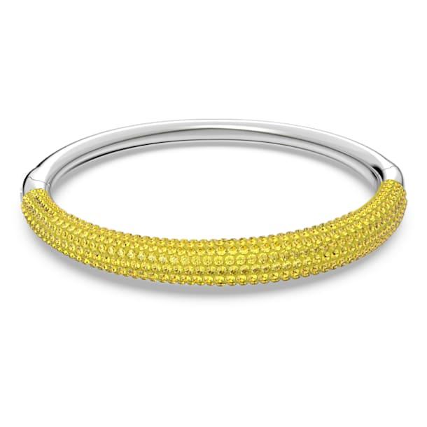 Tigris bangle, Yellow, Rhodium plated - Swarovski, 5611187