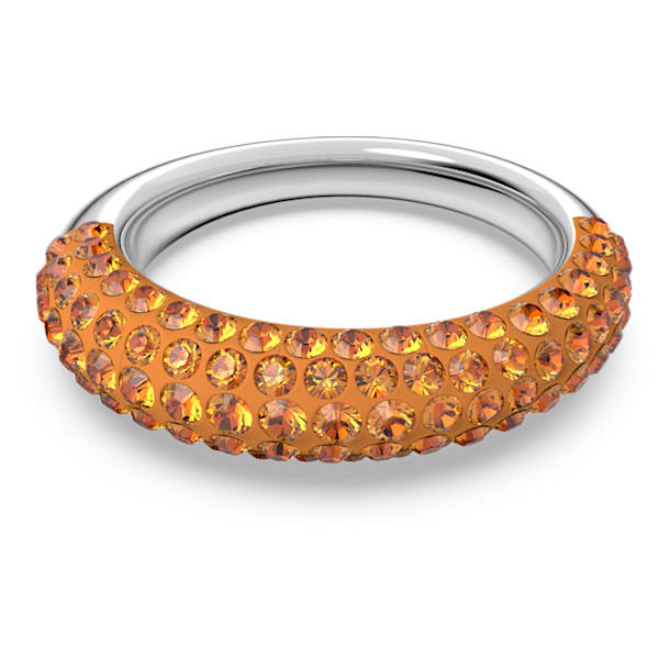 Tigris ring, Orange, Rhodium plated - Swarovski, 5611250