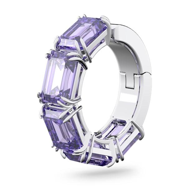 Millenia Кафф, Кубический цирконий Swarovski огранки 'октагон', Пурпурный цвет, Родиевое покрытие - Swarovski, 5612669