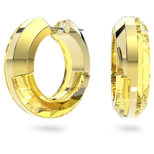 Lucent hoop earrings, Yellow - Swarovski, 5613548