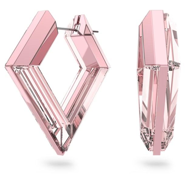 Lucent hoop earrings, Pink - Swarovski, 5613549