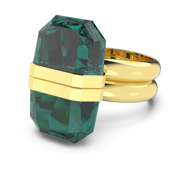 Anel Lucent, Magnético, Verde, Lacado a dourado - Swarovski, 5613551