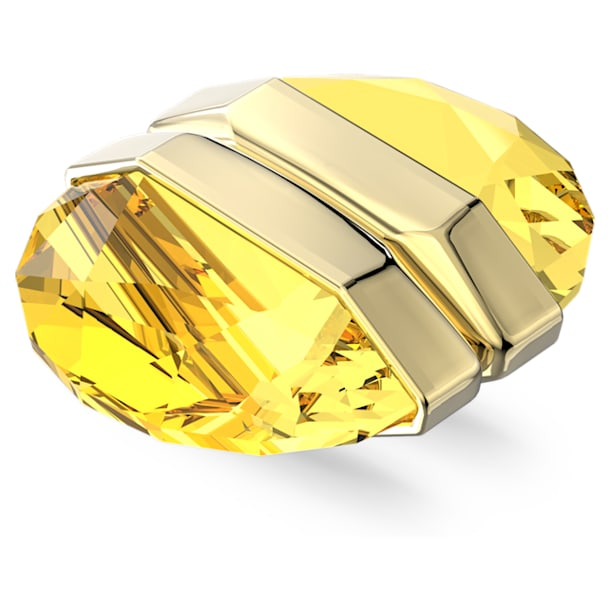 Lucent ear cuff, Enkel, magnetisch, Goudkleurige toplaag - Swarovski, 5613552