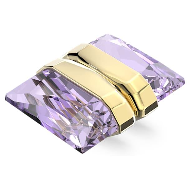 Lucent ear cuff, Single, Magnetic, Purple, Gold-tone plated - Swarovski, 5613561