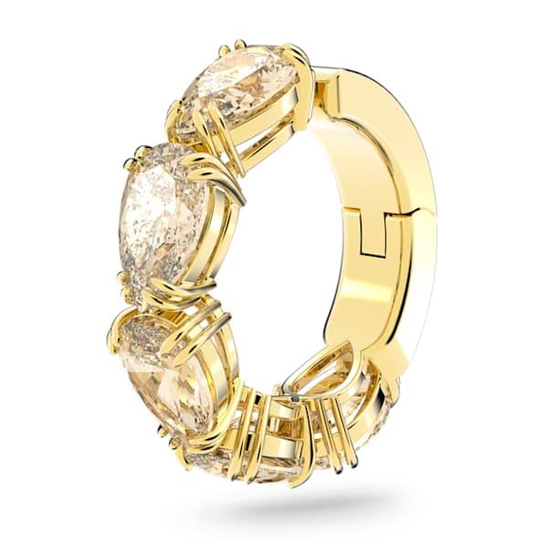 Boucle d'oreille manchette Millenia, Mono, Swarovski Zirconia taille poire, Jaune, Placage de ton doré - Swarovski, 5613639