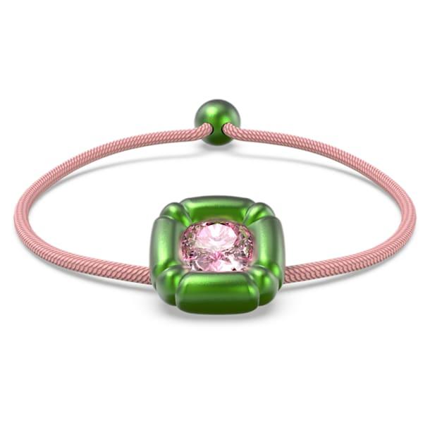 Dulcis bracelet, Cushion cut crystals, Green - Swarovski, 5613643
