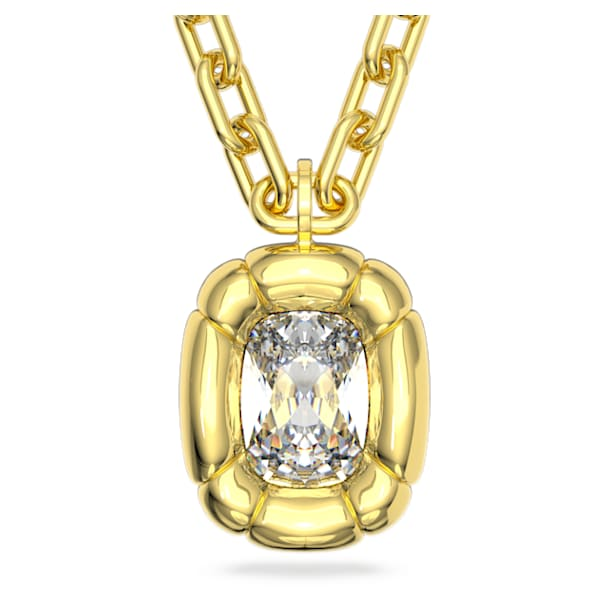 Μενταγιόν Dulcis, Κρύσταλλα κοπής cushion, Κίτρινο, Επιμετάλλωση σε χρυσαφί τόνο - Swarovski, 5613656