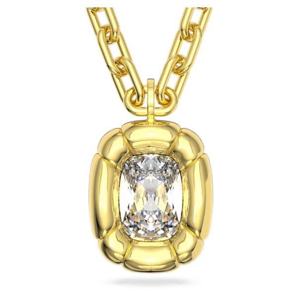 Dulcis medál, Párnametszésű kristályok, Sárga, Aranytónusú bevonattal - Swarovski, 5613656