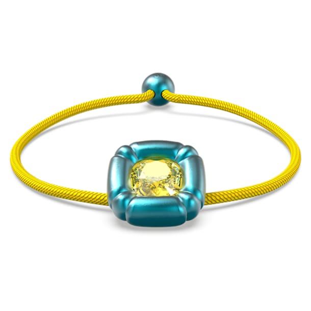 Dulcis bracelet, Cushion cut crystals, Blue - Swarovski, 5613667