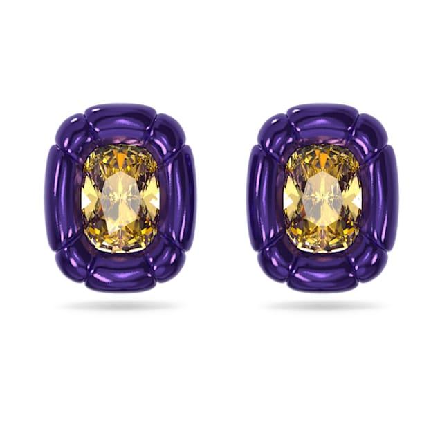 Dulcis Ohrclips, Kristalle im Cushion-Schliff, Violett - Swarovski, 5613729