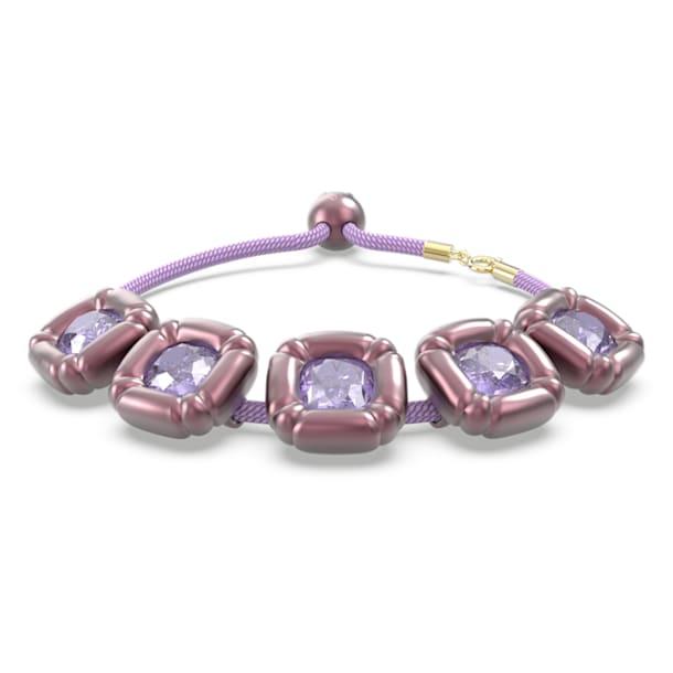 Βραχιόλι Dulcis, Κρύσταλλα κοπής cushion, Μοβ - Swarovski, 5613731