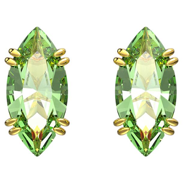 Σκουλαρίκια με καραφάκι Gema, Πράσινο, Επιμετάλλωση σε χρυσαφί τόνο - Swarovski, 5614453