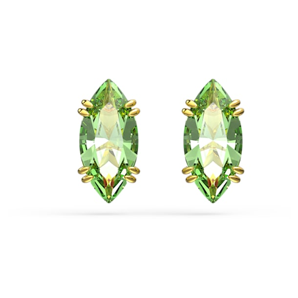 Gema Пуссеты, Зеленый кристалл, Покрытие оттенка золота - Swarovski, 5614453