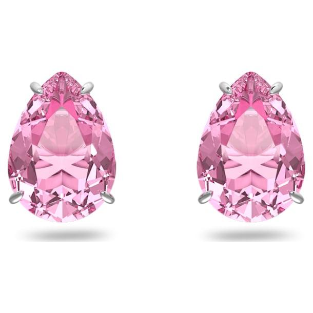 Gema stud earrings, Pink, Rhodium plated - Swarovski, 5614455