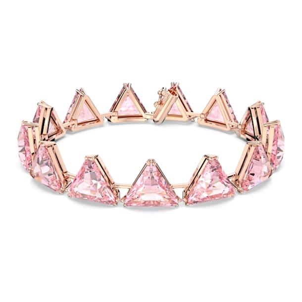 Pulsera Millenia, Cristales de talla triangular, Baño tono oro Rosa - Swarovski, 5614934