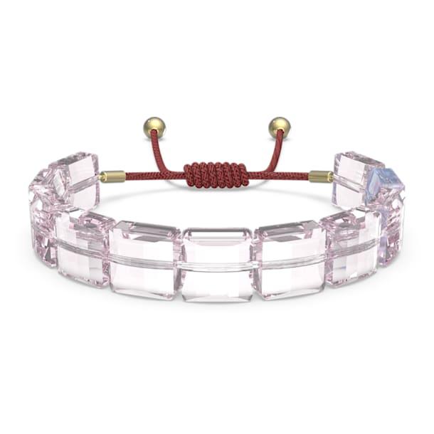 Letra Armband, Lotus, Rosa, Goldlegierungsschicht - Swarovski, 5614974