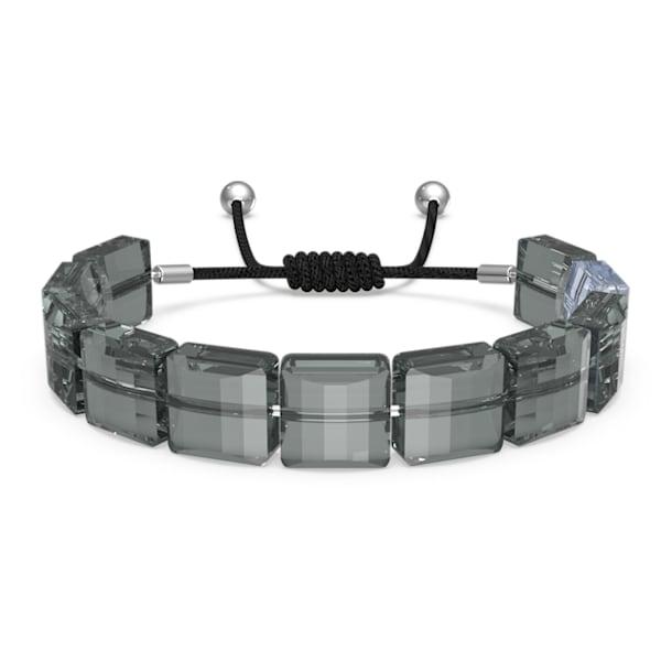 Letra bracelet, Horse shoe, Gray, Rhodium plated - Swarovski, 5615000