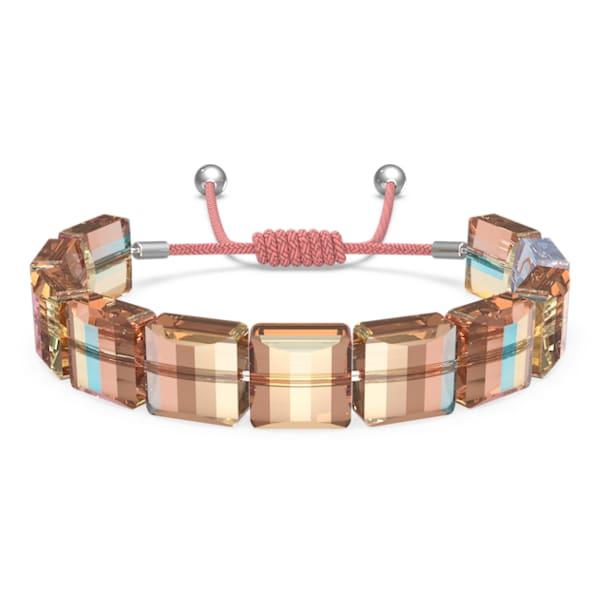 Letra bracelet, Infinity, Orange, Rhodium plated - Swarovski, 5615002